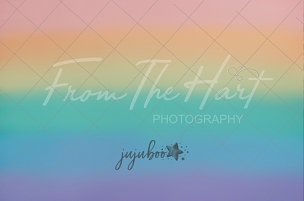 Jujuboo Pastel Rainbow Photography Backdrop